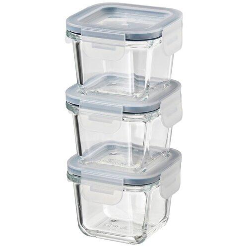 IKEA Набор контейнеров Икеа/365+ 60444947, прозрачный/синий