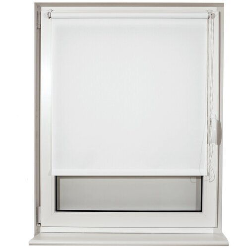 Рулонная штора Brabix Лён белый S-5, 40х175 см