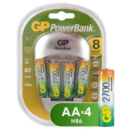 Фото - Зарядное устройство GP PB27GS270-2CR4 4 слота в компл. 4 акк. 2700mAh gp pb570gs270 2cr4