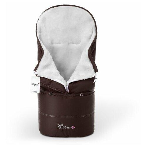 Конверт в коляску Esspero Transformer White (натуральная 100% шерсть) (Chocolat) комплекты в коляску esspero комплект постельного белья в коляску conny 5 предметов