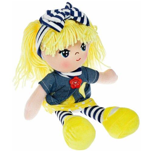 Фото - Кукла мягкая ВИКА 26 см, жёлтые волосы Oly Bondibon мягкие игрушки bondibon кукла oly ника 26 см