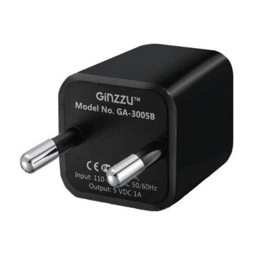 Сетевая зарядка Ginzzu GA-3005B, black автомобильная зарядка ginzzu ga 4615ub черный