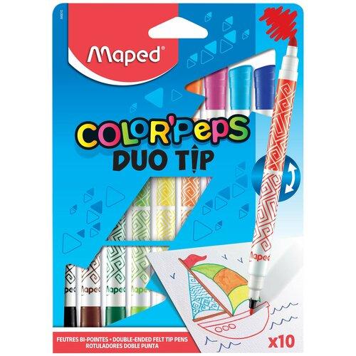 Купить Maped Фломастеры Color'Peps Duo Tip (849010), 10 шт., Фломастеры и маркеры