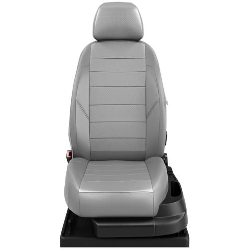 Авточехлы для Volkswagen Crafter с 2006-2017 фургон Передние 3 места, 3 подголовника. Пассажирское кресло сдвоенное кресло со столиком (Фольксваген Крафтер). ЭК-23 с.сер/с.сер