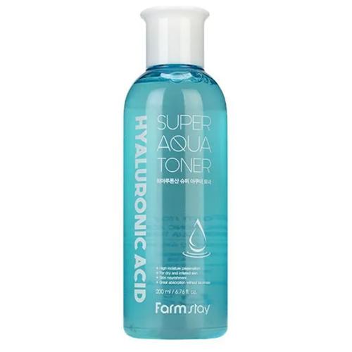 Купить FarmStay Суперувлажняющий тонер с гиалуроновой кислотой Hyaluronic Acid Super Aqua Toner, 200 мл