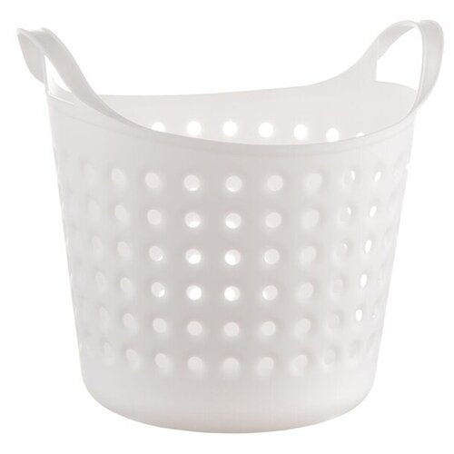 BEROSSI Корзина для хранения Soft 24,6 х 20,6 х 22,2 см снежно-белый