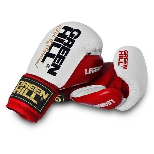Боксерские перчатки Green hill Legend (BGL-2246) красный/белый 10 oz боксерские перчатки green hill gym bgg 2018 синий 10 oz