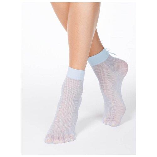 Капроновые носки Conte Elegant Fantasy 40 18С-10СП, размер 23-25, light blue