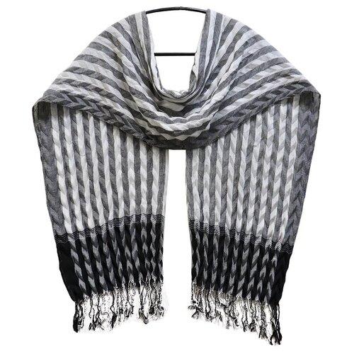 Палантин Crystel Eden 1297 Шерсть серый/черный