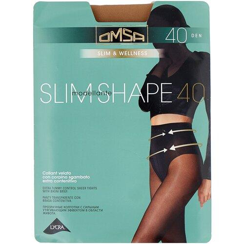 Колготки Omsa Slim Shape, 40 den, размер 4-L, caramello (бежевый) колготки omsa beauty slim 40 den размер 2 s caramello бежевый