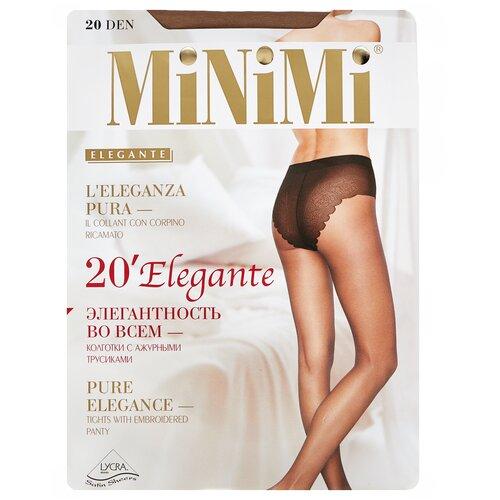 Колготки MiNiMi Elegante, 20 den, размер 4-L, daino (бежевый) колготки minimi calma 20 den размер 4 l daino бежевый