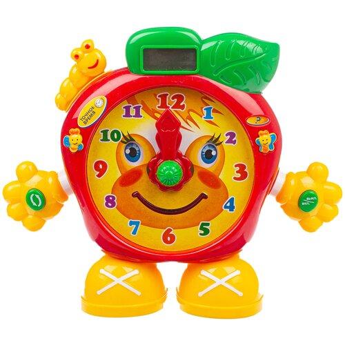 Интерактивная развивающая игрушка Play Smart Часы Который Час? (7158), красный/желтый