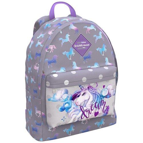 ErichKrause рюкзак EasyLine Dream Unicorn, серый недорого