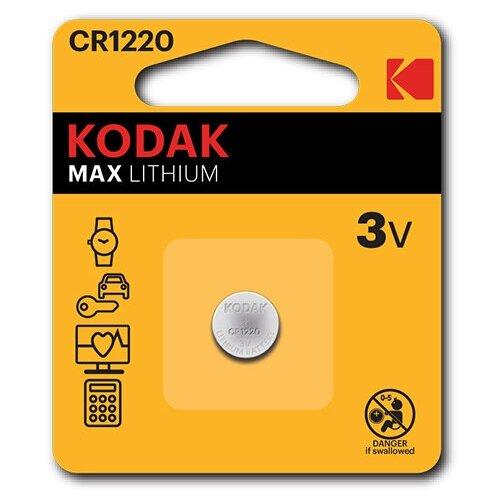 Фото - Батарейка Kodak Max Lithium CR1220, 1 шт. батарейка kodak 23a сигнализаций пультов игрушек электрошокеров