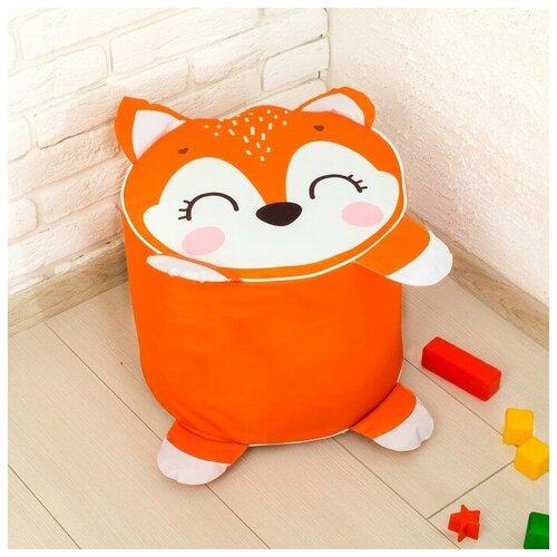 Мягкая игрушка «Пуфик Лиса» 40см х 40см, цвет оранжевый