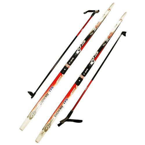 Лыжный комплект (лыжи + палки + крепления) NNN 170 СТЕП Step-in, Sable snowway red