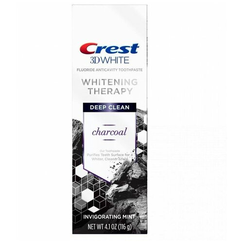Crest 3D White Whitening Therapy Charcoal – Зубная паста 116 грамм