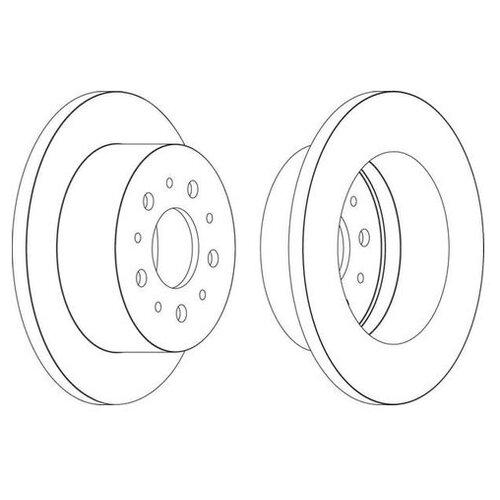 Фото - Тормозной диск Ferodo DDF1653 для Citroen JUMPER; Fiat DUCATO; Peugeot BOXER тормозной диск задний miles k010676 280x16 для citroen jumper fiat ducato peugeot boxer
