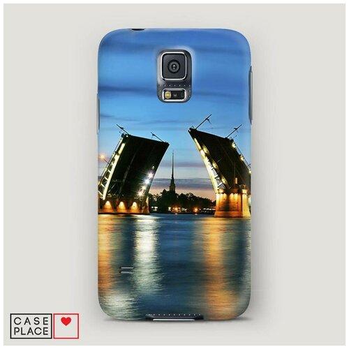 Чехол Пластиковый Samsung Galaxy S5 Разведенные мосты в СПб 2