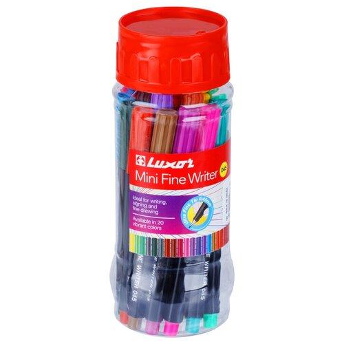 Фото - Luxor Набор капиллярных ручек Mini Fine Writer 045, 0.8 мм, 20 цветов 15300M/20JAR luxor набор капиллярных ручек fine writer 045 0 8 мм 10 шт черный цвет чернил