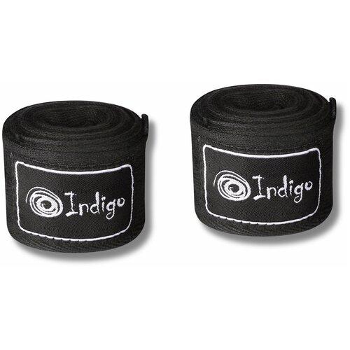 Бинт боксёрский INDIGO х/б, нейлон 1115 Черный 3,5м