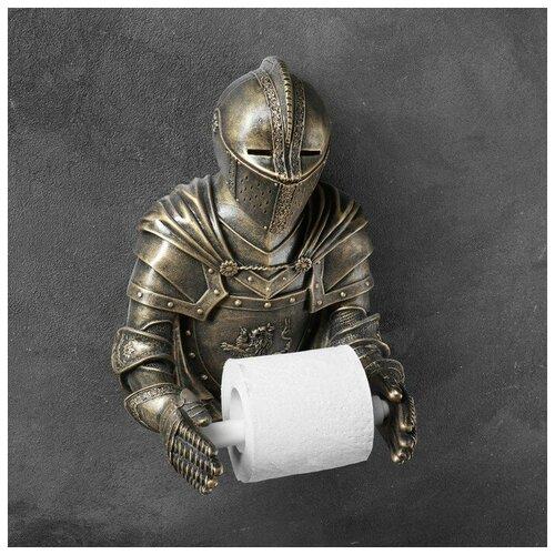 Фигурный держатель бумаги Рыцарь бронза 16х22х31см фигурный держатель бумаги ангел 50х13см