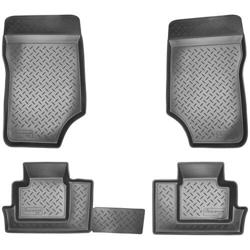 Комплект ковриков салона NorPlast NPL-Po-23-05 для ГАЗ 31105 Волга 4 шт. черный