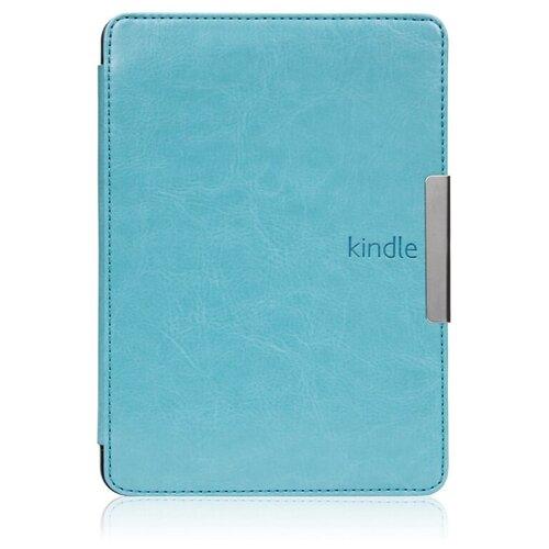 Чехол-обложка футляр MyPads для Amazon Kindle Voyage из качественной эко-кожи тонкий с магнитной застежкой голубой