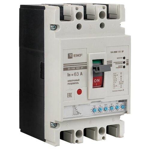Автоматический выключатель EKF ВА-99М/100 3P (электронный) 50кА 63 А