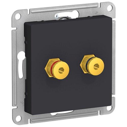Розетка аудио Schneider Electric Atlas Design ATN001087 скрытая установка карбон два модуля аудио