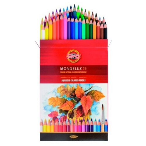 Карандаши цветные акварельные Koh-I-Noor MONDELUZ 3719036001KZRU шестигранные 36цв. коробкаевропод.