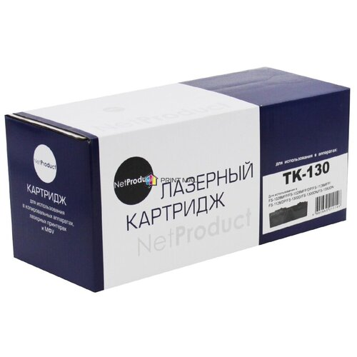 Картридж NetProduct для Kyocera Mita FS-1028MFP, DP, 1300D (7200 стр.) TK-130 с чипом