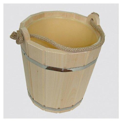 Запарник с пластиковой вставкой Доктор Баня, 10 л / баня / обустройство бани / для бани / все для бани