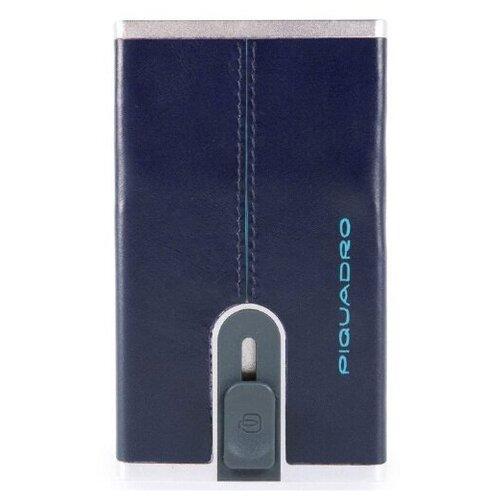 Piquadro Square PP4825B2R/BLU2 чехол для кредитных карт Blue