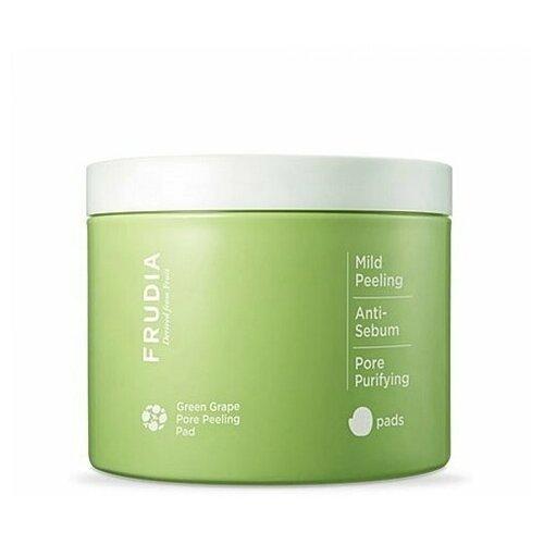 frudia сыворотка green grape pore control serum себорегулирующая с зеленым виноградом 50г Frudia пилинг-диски Green grape Pore Peeling Pad отшелушивающие с зеленым виноградом, 70 шт