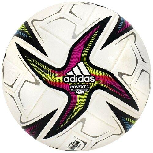 Мяч футбольный сувенирный ADIDAS Conext 21 Mini, р.1, арт.GK3487 футбольный мяч adidas conext 19 omb dn8633