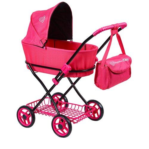 Купить Коляска-люлька Buggy Boom Mixy (8019) темно-розовый, Коляски для кукол