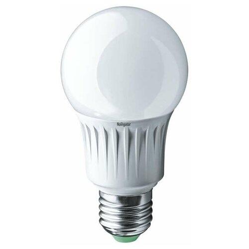 Лампа светодиодная 94 387 NLL-A60-10-230-2.7K-E27 10Вт грушевидная 2700К тепл. бел. E27 750лм 170-260В Navigator 94387 (упаковка 10 шт)