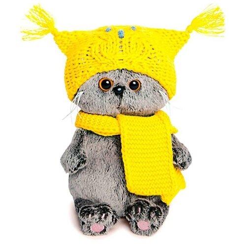 Басик и Ко Мягкая игрушка «Басик Бэби» в шапке-сова и шарфе, 20 см