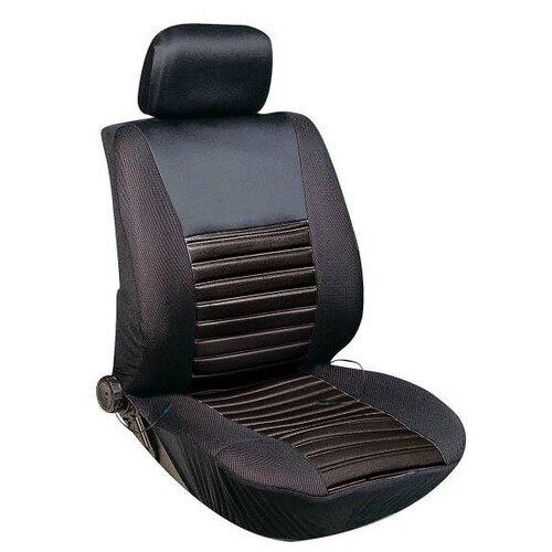 Чехол сиденья с подогревом полиэстер SKYWAY с терморегулятором (2 режима) Черно\Серый 12V 116х56см 2,5А-3А (2 шнура: справа, слева)