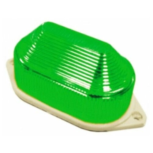 Накладная строб-лампа, 10 LED-огней, 80 вспышек в минуту, зелёная, 11х5.5х5 см, Торг-Хаус LED-DJ-391-G