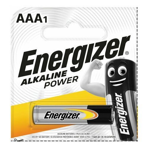 Фото - Батарейка ENERGIZER Alkaline Power, AAA (LR03, 24А), алкалиновая, мизинчиковая, 1 шт., в блистере (отрывной блок), Е300140400 батарейка energizer max aaa lr03 алкалиновая 4bl