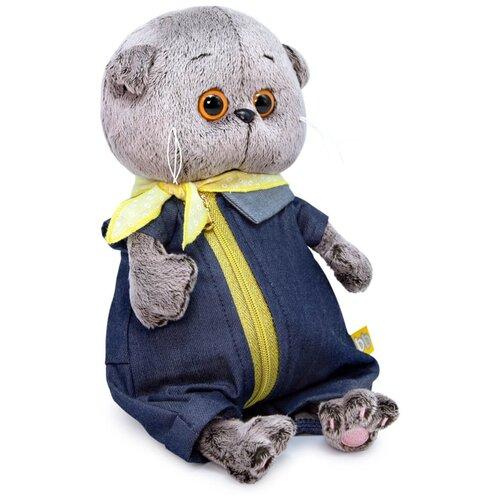 Мягкая игрушка Basic&Co Басик baby в джинсовом комбинезоне 20 см