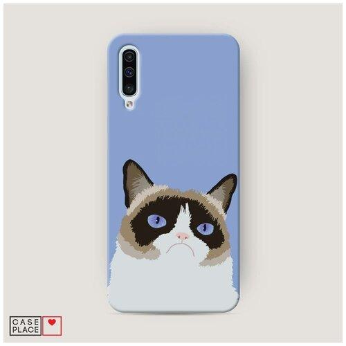 Чехол Пластиковый Samsung Galaxy A50 Мем грустный кот