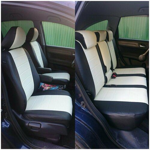 Чехлы для Nissan Almera IV цельная 2013-н.в. (черно-белый)