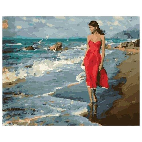 Картина по номерам GX 22239 В алом по берегу 40*50 картина по номерам gx 9871 уточки и лодочка 40 50