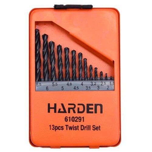 Набор сверл Harden по металлу 13шт HSS 1.5-6.5mm 610291
