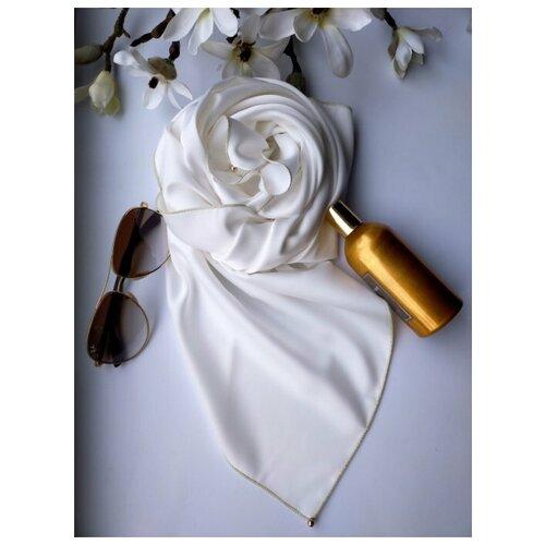 Фото - Платок, Sergio Valentini, Шёлковый платок, цвет: Молочный, 90 х 90 см платок женский troll цвет темно синий молочный tsa0345gr размер 150 см х 150 см