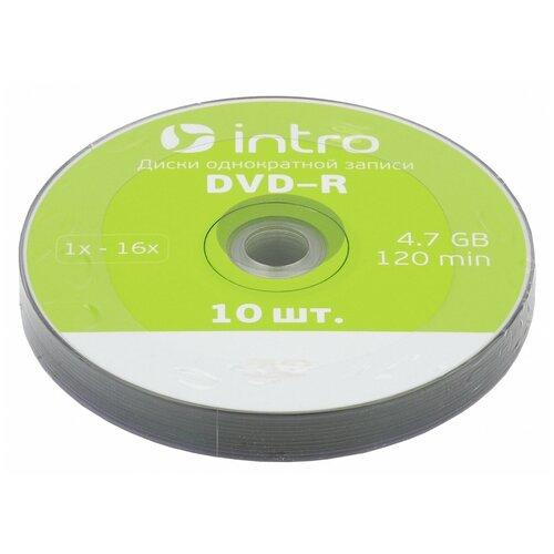 Intro Диск DVD-R Intro 4.7Gb 16x Bulk, 10шт (UL130273A1N)