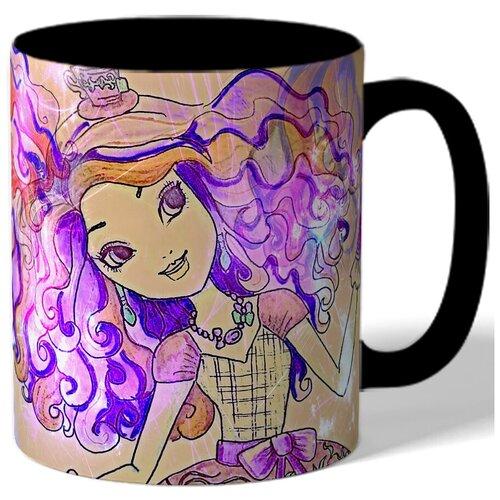 Кружка с рисунком Нарисованная девушка